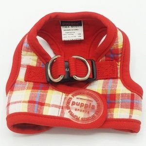 Puppia Small Dog Red Plaid Harness